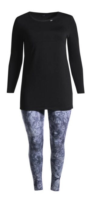 Batikowe legginsy dla puszystych