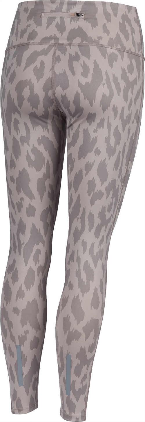 Beżowe legginsy damskie z nadrukiem skóry zwierzęcej