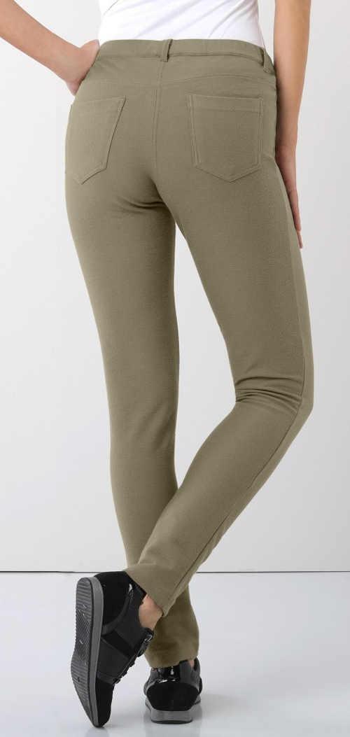 Ciemnobeżowe legginsy damskie