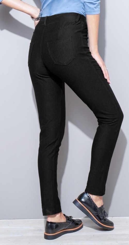 Czarne dżinsy damskie ze stretchem