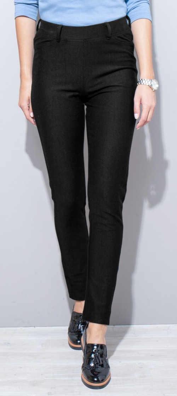Czarne legginsy damskie