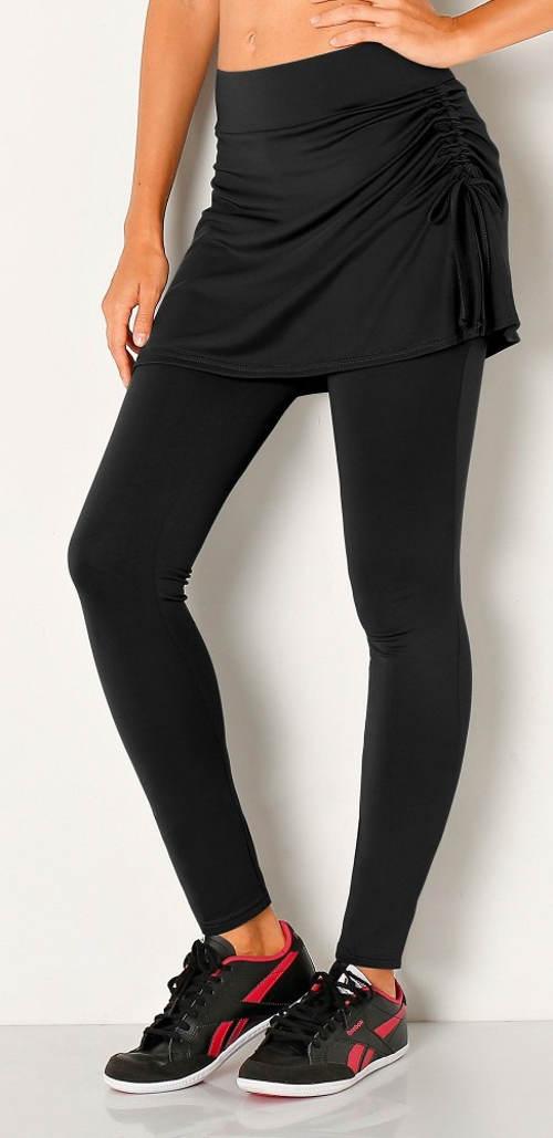 Czarne legginsy ze spódnicą