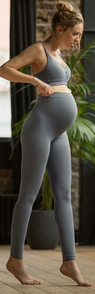 Legginsy ciążowe Monochrome Grey Illusion