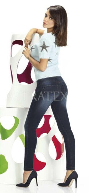 Legginsy damskie o kroju jeansowym