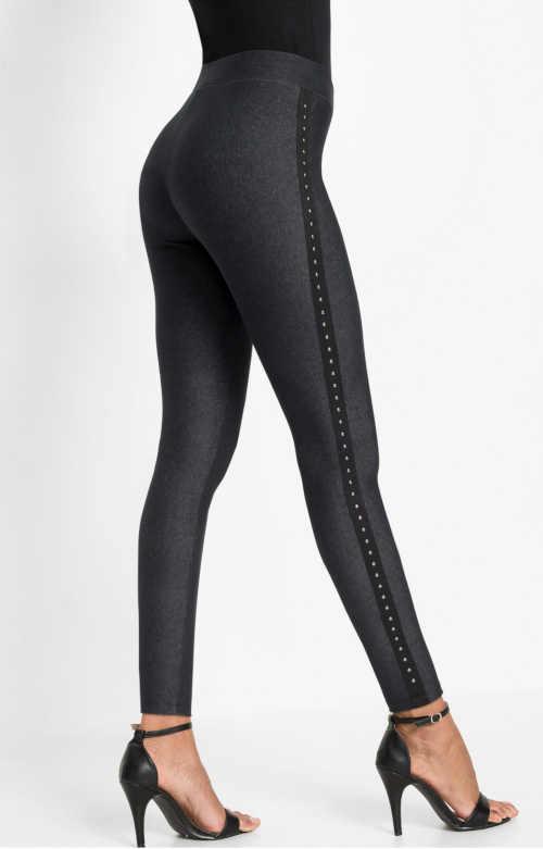 Nowoczesne długie legginsy z denimu