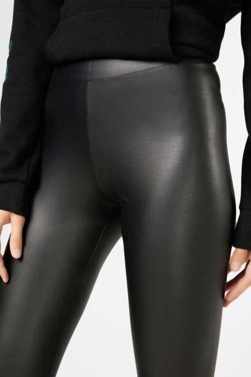 Skórzane legginsy damskie