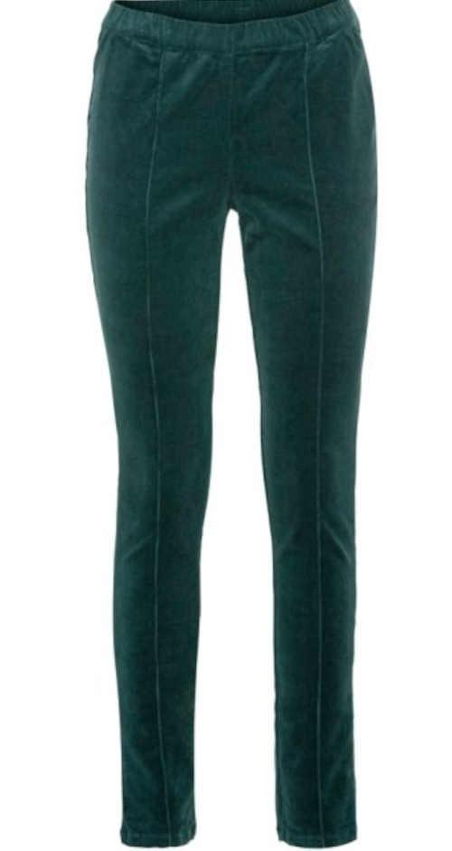 Stylowe, sztruksowe legginsy w kerosene farbe