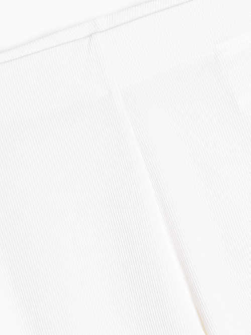 Białe legginsy z dzianiny
