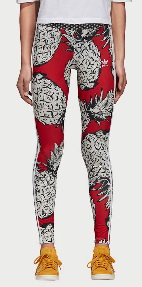 Kolorowe legginsy do ćwiczeń Adidas