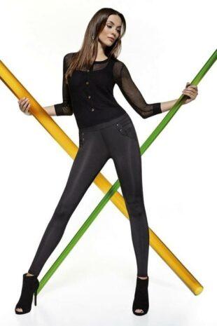 Stylowe długie legginsy wykonane z cienkiej i elastycznej mikrofibry