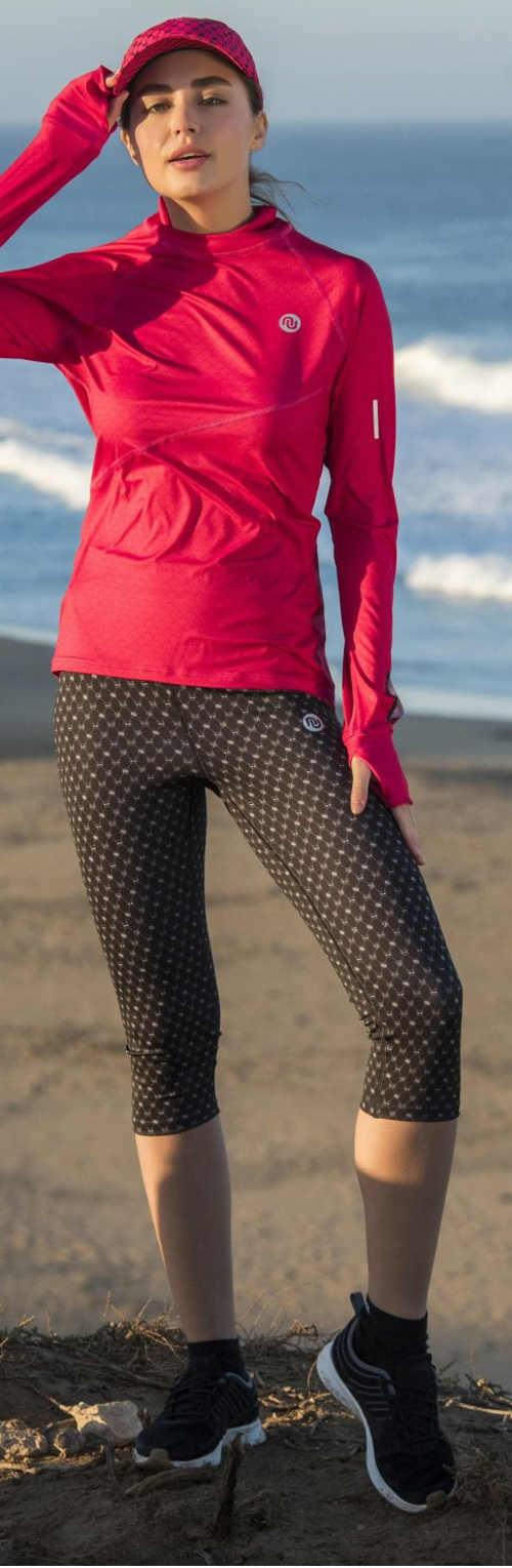 Damskie legginsy z wysokim stanem o długości trzy czwarte
