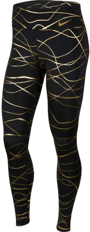Sportowe długie legginsy z podwyższoną talią i ciekawym nadrukiem