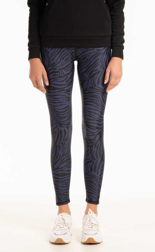 Długie legginsy damskie z nowoczesnym wzorem zwierzęcym