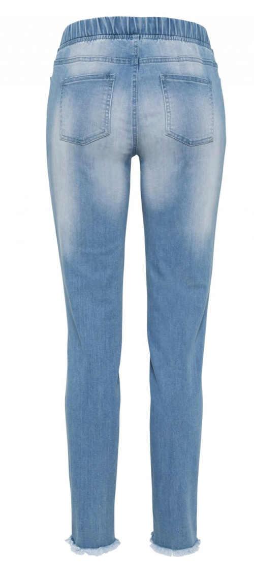 Długie legginsy w kolorze niebieskim