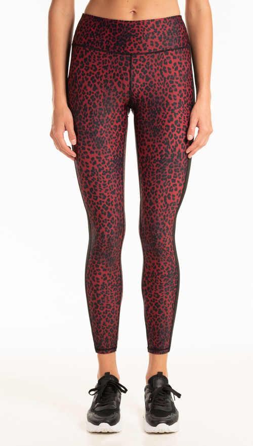 Długie legginsy z podwyższoną talią w nowoczesny zwierzęcy wzór