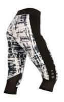 Kolorowe legginsy damskie o długości 3/4 w nowoczesnym designie