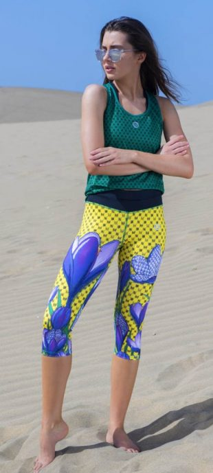 Krótkie legginsy do biegania z wielofunkcyjną talią