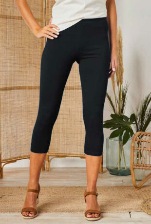 Nowoczesne damskie legginsy o długości 3/4 w opakowaniu 2 szt.