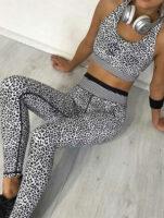 Odzież sportowa w panterkę na siłownię