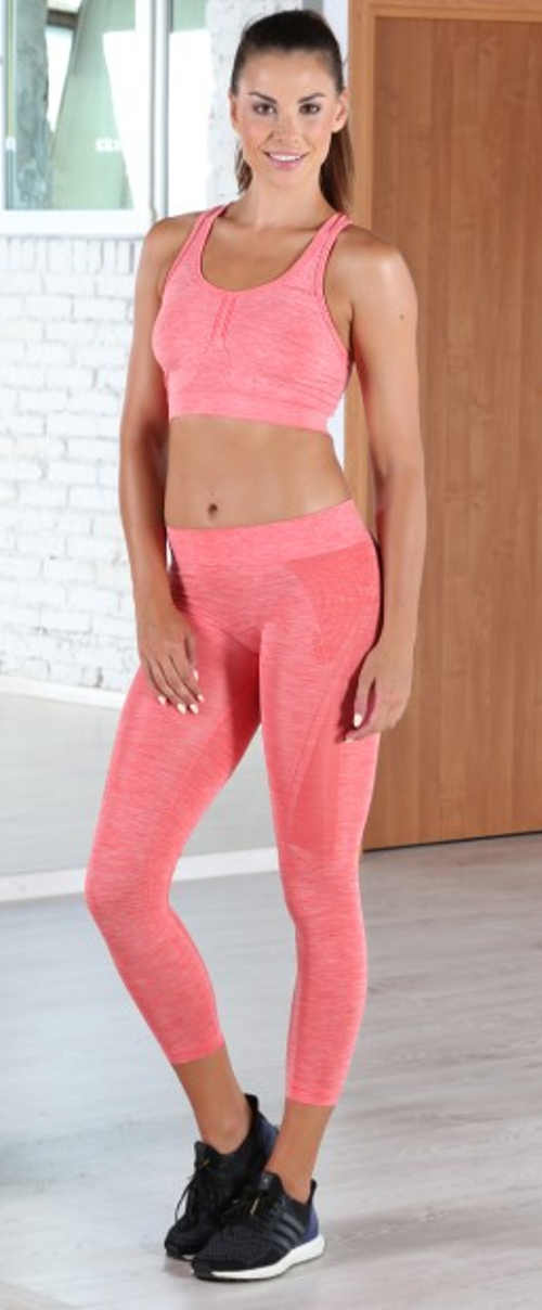 Różowe legginsy damskie nie tylko do ćwiczeń