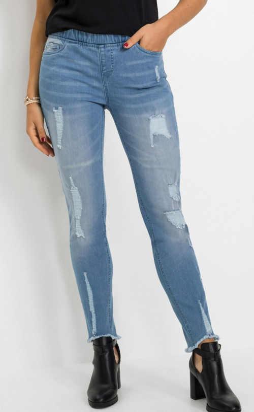 Wygodne bawełniane legginsy w modnym wzorze z kieszeniami