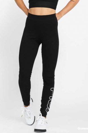 Czarne damskie długie legginsy Fila z wysoką talią